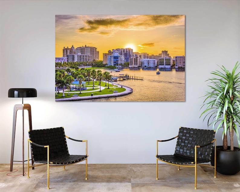 Sarasota Beautiful City Printing Art on Canvas Sarasota Trendy Wall Decor Sarasota Photo Art Wall Florida Design Art Room Florida Modern Art