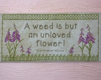 Unloved Flower | Cross Stitch Alaska Fireweed Pattern