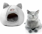 Cat Cave House Pet Bed House Cave Igloo Beds for Indoor Cats Cozy Gift
