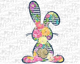 HTV Transfer ~ Leopard Bunny ~ Easter ~ Siser Vinyl ~ Ready To Press