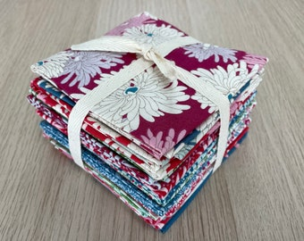 Pack 15 Tilda fabrics from cottage collection for Patchwork and pre-cut sewing