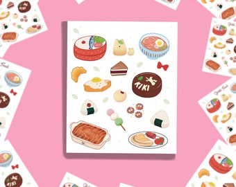 kawaii anime food decal vinyl coffee Banh mi sandwich yummy foodie sticker cafe sua da,waterproof laminate Vietnamese food soup pho