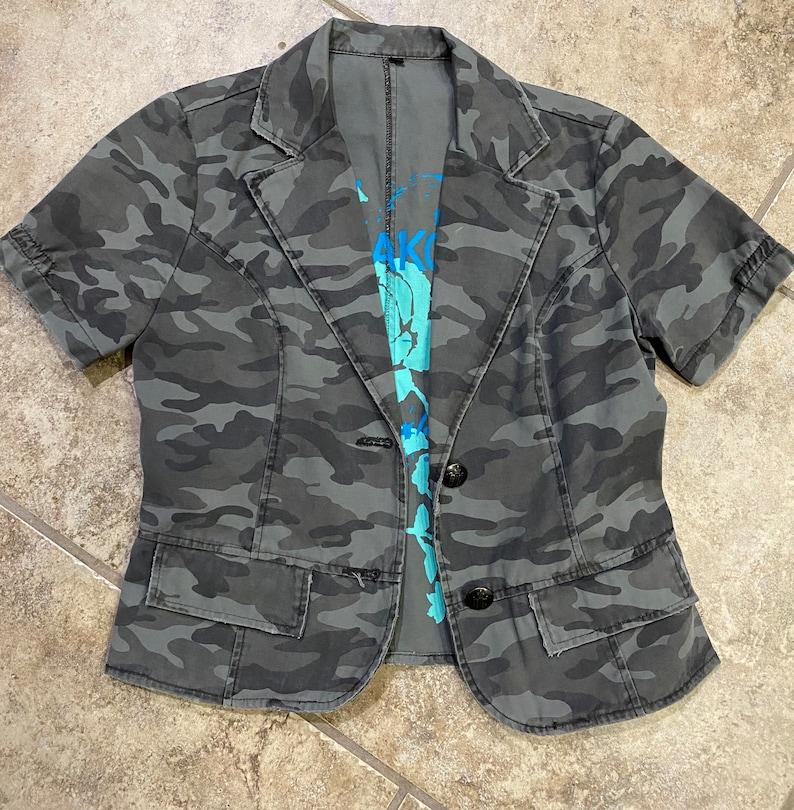 BB Dakota Camoflauge Jacket Button up womens M