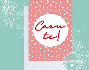 Caru Ti or Cwtch or English message  Card in greetings cards for the one I love Personalised large A5 card  available in Welsh Love You