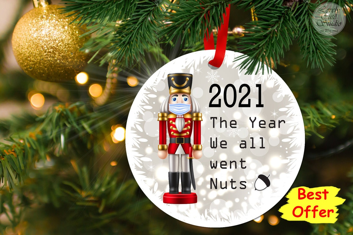 Nutcracker soldier 2021 Christmas Ornament for Home Décor 2021 went nuts RED