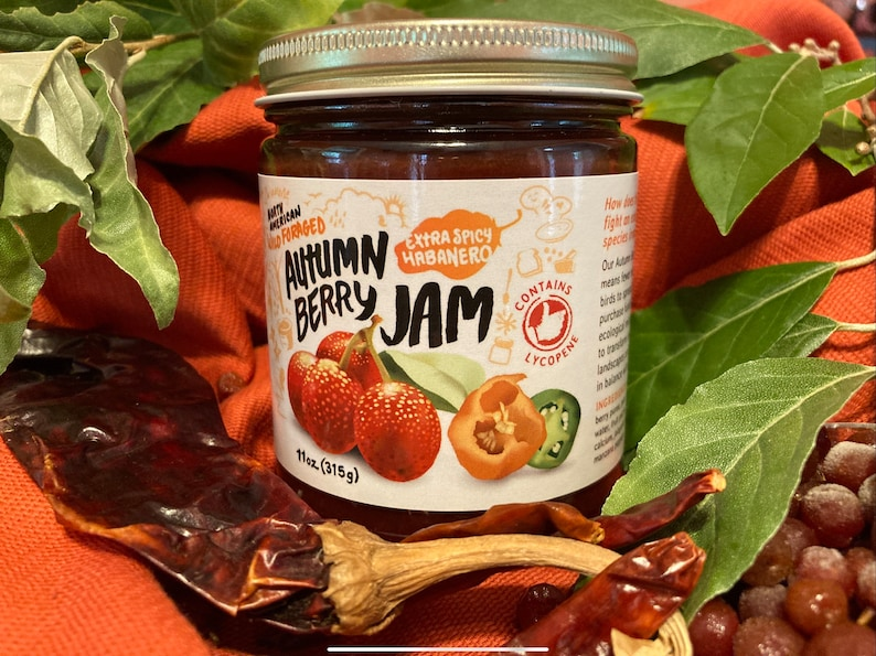 EXTRA Spicy Autumn Berry Jam with habañero peppers image 0