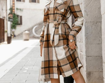 Matisse Lace Up Plaid Dress