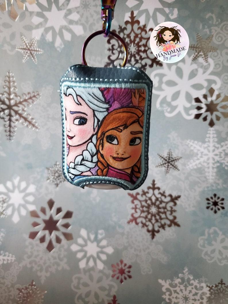 Elsa and Anna Frozen Hand Sanitizer Holder Princess Hand Sanitizer Holder