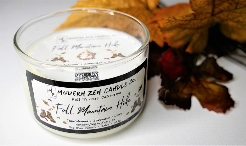 Gift For Her Scented Soy Candle Clove Fall Scented Candle Sandalwood Fall Mountain Hike Lavender Earthy Candles