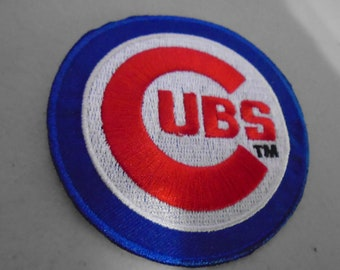 Chicago Cubs Embroidered iron on patch