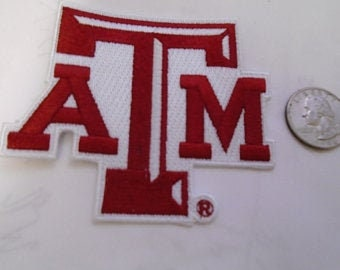 Texas A & M  Embroidered iron on patch