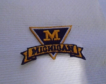 Michigan Wolverines Embroidered iron on patch