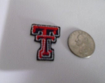 Texas Tech  Embroidered iron on patch