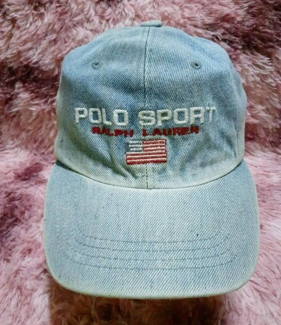 Vintage Polo Sport Ralph Lauren Denim Cap Hat