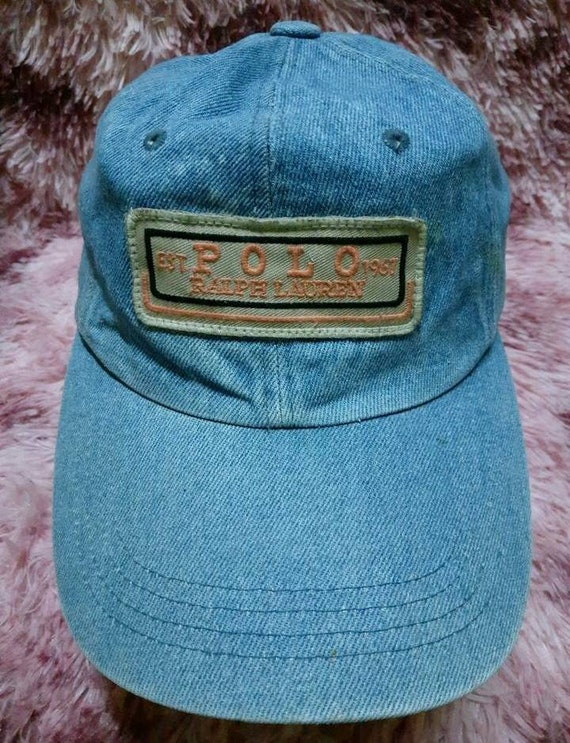 Vintage Denim Polo Ralph Lauren Cap Hat