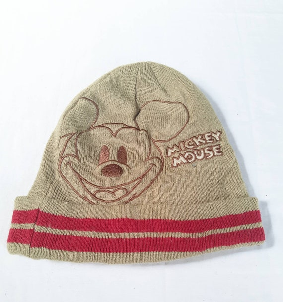 Vintage Disney Mickey Mouse Beanie Hat