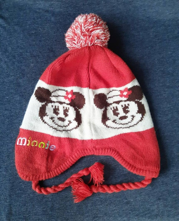 Vintage Disney Minnie Mouse Winter Beanie Hat