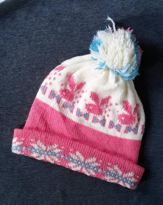 Vintage Cartoon Winter Beanie Hat