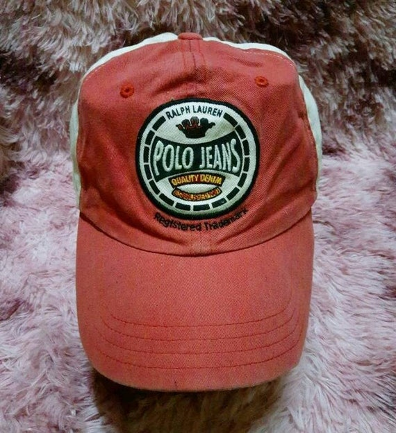 Vintage Polo Jeans Quality Denim Cap Hat