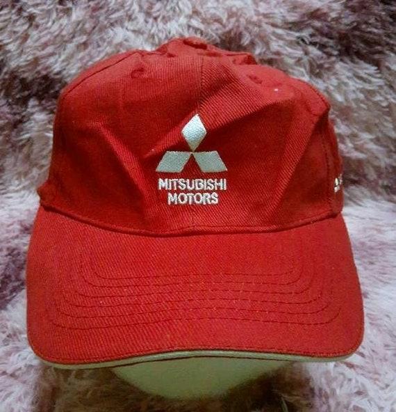 Mitsubishi Cap Vintage Mitsubishi Motors Hat Vintage Mitsubishi Motors Ralli Art Hat Cap