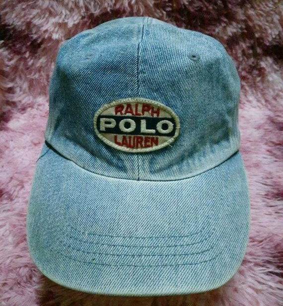 Vintage Polo Ralph Lauren Denim Cap Hat