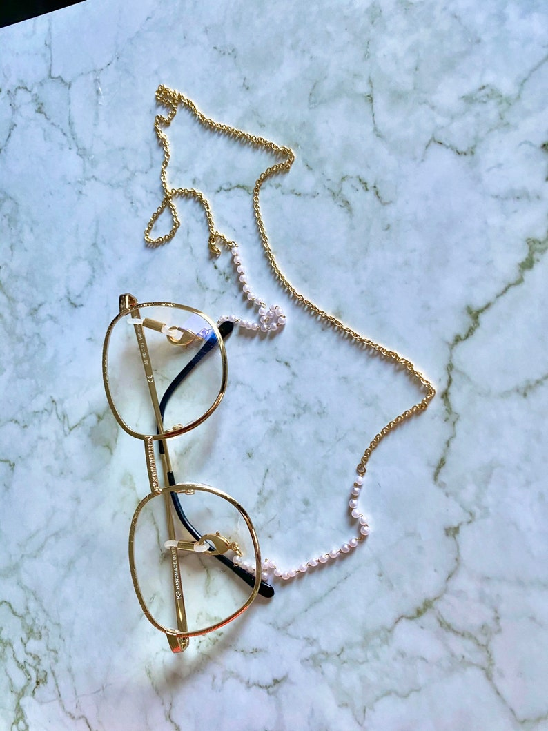 sunglasses pearl cord sunglasses chain eyeglasses pearl chain gold chain in Canada glasses straps free shipping Eyeglasses gold chain