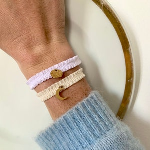 Chouchou jewel Mitia vichy elastic ribbon customizable to wear on the wrist or in the hair
