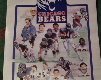 1980s Michael Singletary Chicago Bears Player Poster 15 x 22.5 Osco-Drug Kodak Vintage Poster The BEARS ARE BACK!