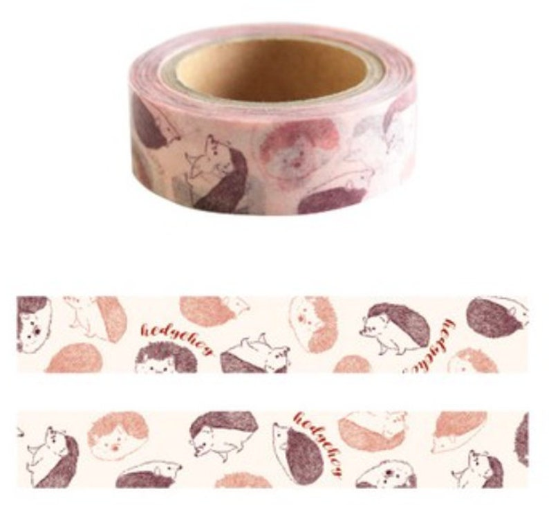 For planners hobonichi GreenFlash scrapbooking journals card making Hedgehog Hedgie Washi Tape planning crafting bujo