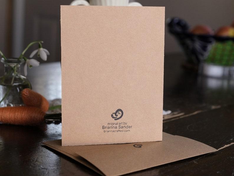 Handprinted Cards for Spring HOPPY EASTER
