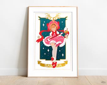 INSTANT DOWNLOAD, Cardcaptor Sakura, Printable Art, Wall Decor, Anime, Manga Art, Digital Art, Cute Art Print