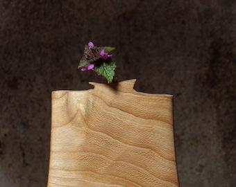 Vase, elm wood