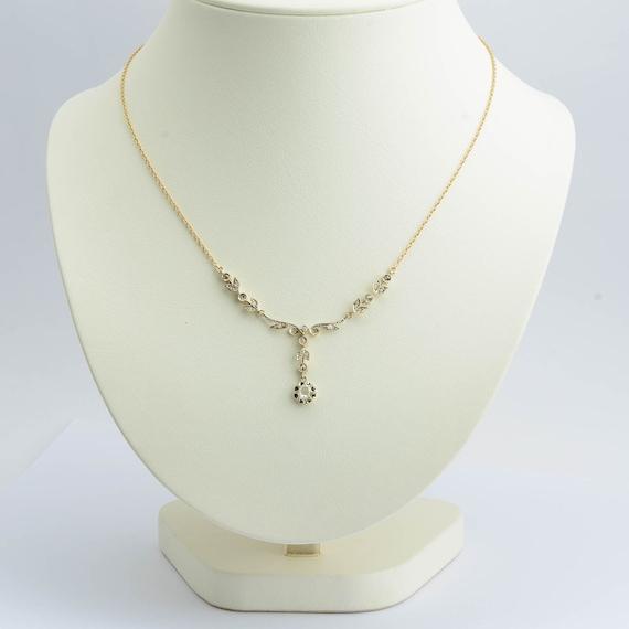 Belle Epoque Necklace Rose Cut Diamond Gold 18K 19