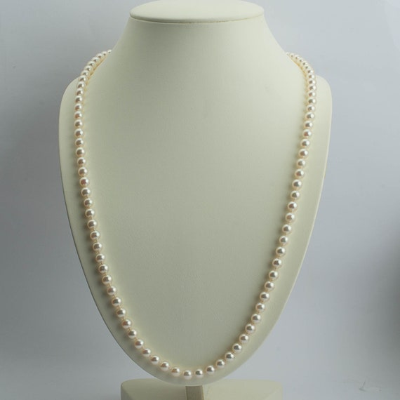Akoya Pearl Necklace, Cultured Pearl Necklace 1960