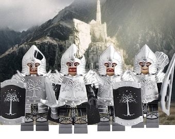 New Lord Rings Gondor soldiers lancer archer Medieval Knight Armor Rome  mini figures with horse Building block kids toys 10Sets|Blocks| - AliExpress