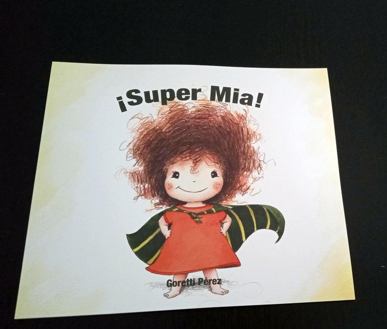Illustrated children's album Super Mia image 0