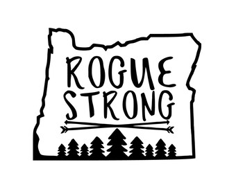 Rogue Strong Oregon State Vinyl Decal