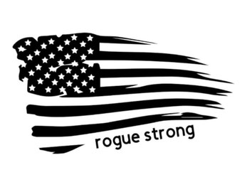 Rogue Strong American Flag Vinyl Decal
