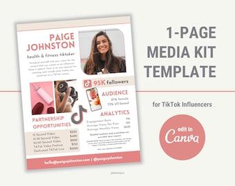TikTok Media Kit, Media Kit Template Canva, Blogger Media Kit, Press Kit, Rate Sheet, Influencer Media Kit, Media Kit Template