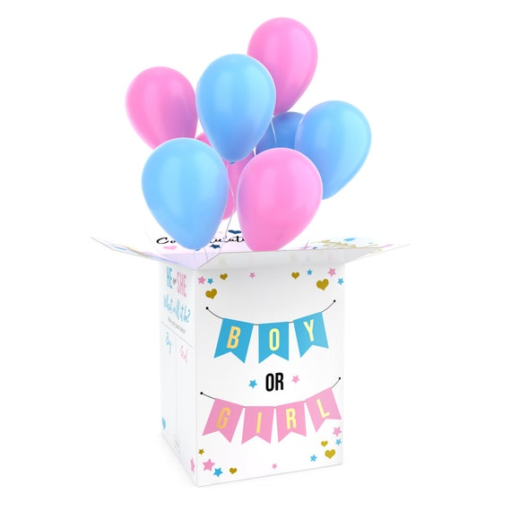 Gender reveal box for balloons, Boy or Girl Surprise, Large Size, No Balloons
