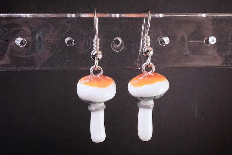 Golden Teacher Mushroom Earrings