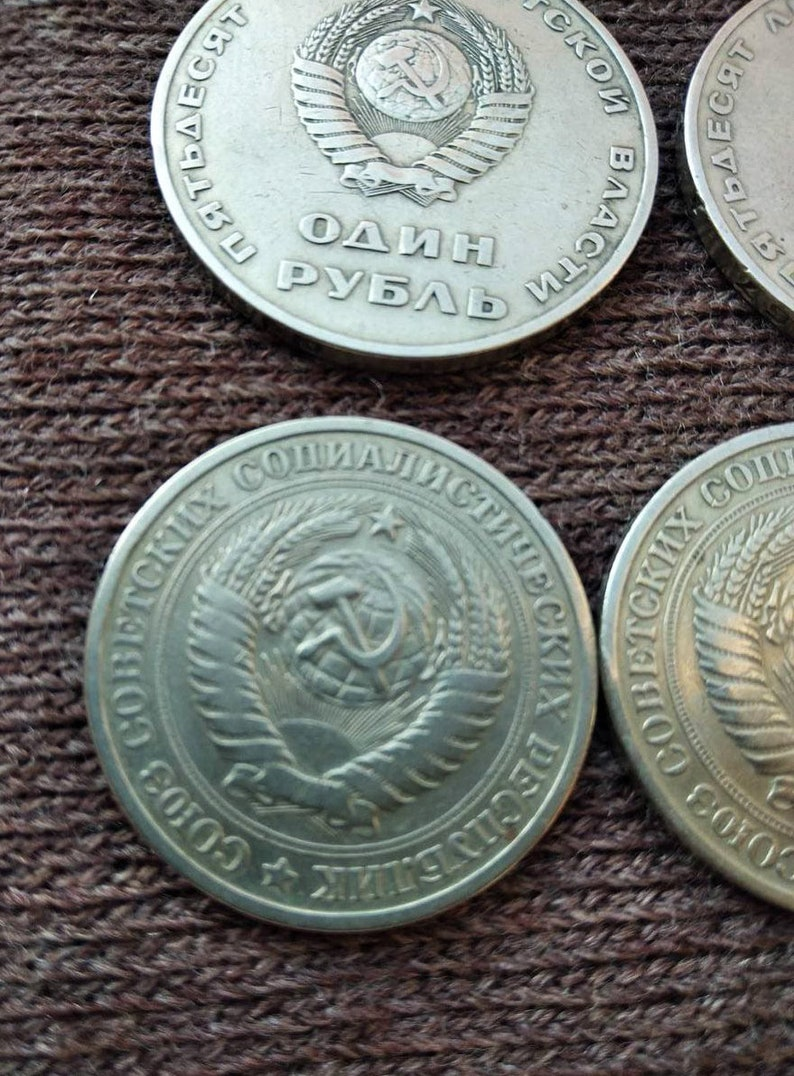 22 soviet coins set Collectible Coin Soviet coins 100 years of Lenin Birth Soviet One Ruble Coin Coin for Collectors