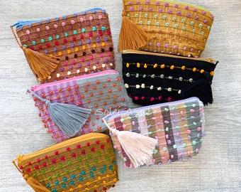 Mexican coin purse embroidered coin purse Mexican coin saver.