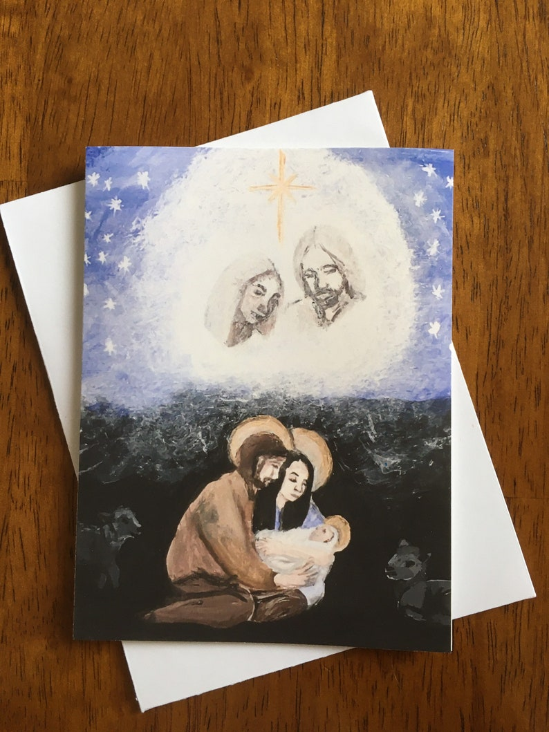 10 pck Heavenly Parents Nativity blank cards image 0