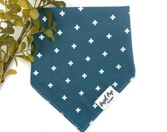 Ocean Breeze Tie On Bandana with Matching Scrunchie Dog Scarf Dog Bandana Pet Accessory Mint Green Dog Bandana Cat Bandana
