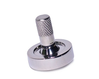 """Stainless Steel """"Schulte"""" Spinning Toy Top   Stainless Steel Top   Metal Toy Top   Desk Office Toy   Metal Spinner   Desk Office Toy"""