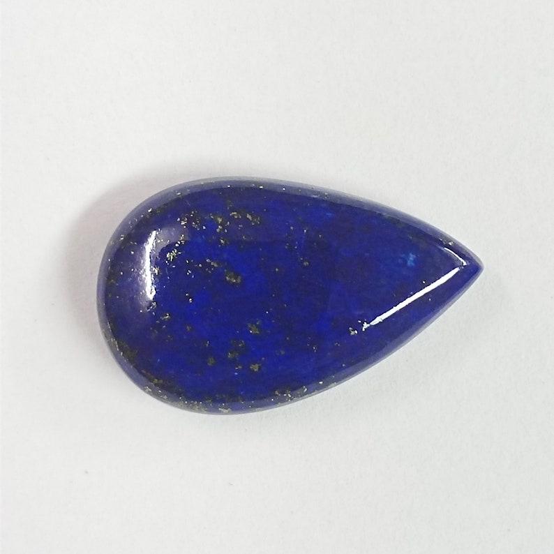 17 Cts Natural Lapis Lazuli Cabochon Gemstone Beautiful Blue Stone Size 23x14x5 mm Pear Shape Loose Stone Jewelry Making AMI266