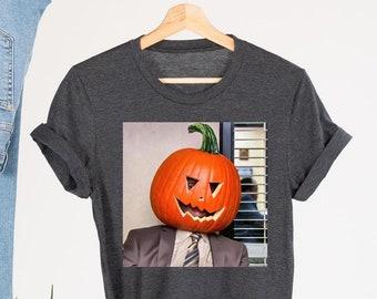 Dwight Pumpkin Head Halloween T-Shirt, The Office Halloween Shirt, Gifts for Office Fans, Shirts for Halloween, Funny Dwight Schrute Shirt