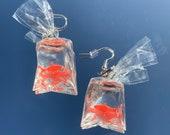 Carnival goldfish earrings