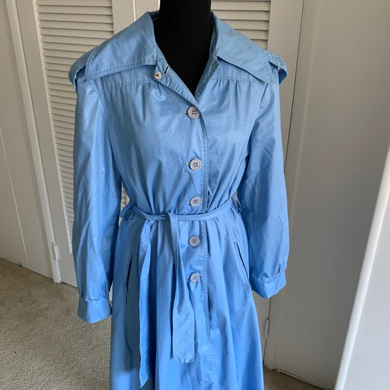 Vintage blue trench coat/dress with pockets